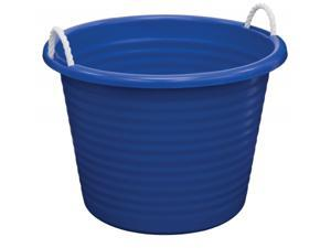 United Comb And Novelty TU0085 17 Gallon Blue Rope Handle Tub - Pack of 6