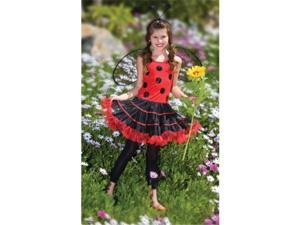 Costumes 196959 Ruffled Lady Bug Child-Tween Costume Size: Small (4-6)