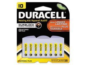 Duracell 1.4V 95mAh 10 Size Easy Tab Hearing Aid Zinc Air Battery 8 Pack