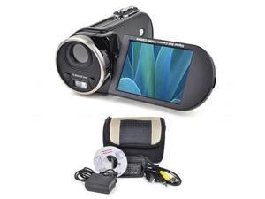 MITSUBA DX700-BLACK 16MP - Interpolated - Digital Camcorder with 8x Digital Zoom, 3.0 in. LCD & Carry Case - Black