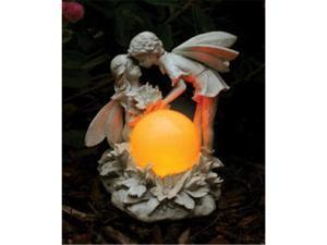 E-V Kissing Solar Fairies Antique Ivory