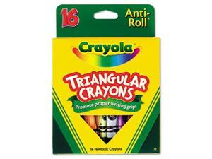 Crayola. 524016 Triangular Crayons, Assorted, 16/Box