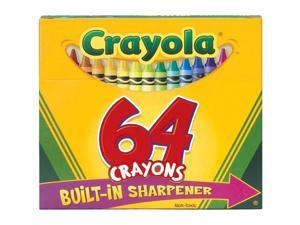 Crayola 52-064D Crayons with Built in Sharpener 64/Pkg