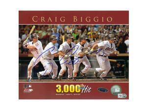 Tristar Productions I0017741 Craig Biggio Autographed Houston Astros 3000 Hit 8 X 10 Photo