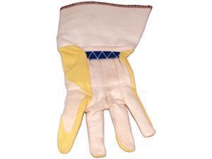 Ansell 02190-12 Kevlar Palm Cotton Back Yellow Cuff Work Glove - 12 Packs