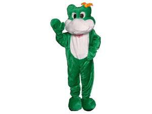 Dress Up America 358-Adult Frog Mascot Costume - One Size Fits Most