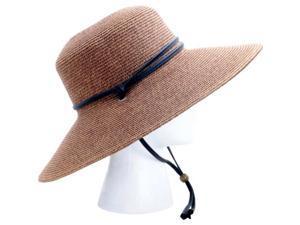Sloggers Wide Brim Braided Hat Dark Brown