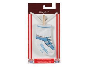 Dimples 689076847766 Gym Shoe Socks - Light Blue