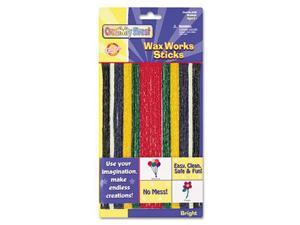 Chenille Kraft 4170 Wax Works Strips, Bright Hues Colors, 48 Pieces