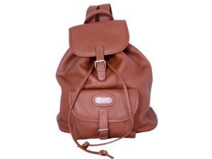 Leatherbay 80111 Leather Backpack With Single Pocket, Tan