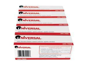 Universal 79000VP Standard Chisel Point 210 Strip Count Staples, 5,000-Box, 5 Boxes per Pack
