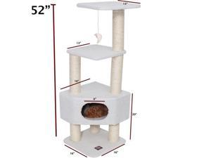 Majestic Pet Products 788995780038 52 in. Bungalow Cat Tree - Sherpa