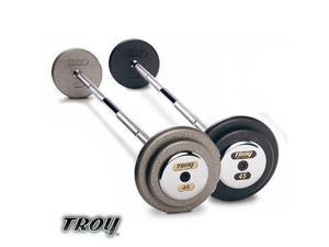 Troy Barbell HFB-080C Pro-Style Commercial Grade Gray Pro-Style Curl Barbell - 80 Pounds
