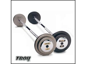 Troy Barbell PFB-075C Pro-Style Fix Curl Barbell - Black Plates And Chrome End Caps - 75 Pounds