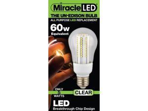 Miracle LED UnEdison 605051 7-Watt (60-Watt) Clear Daylight A-19 Bulb  Cool White