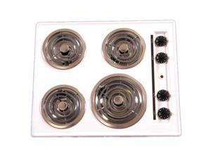 Brown - TEL03 - 24 Inch -  Electric Cooktop - Coil Top - Black