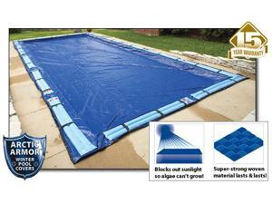 Arctic Armor WC968 15 Year 24' x 40' Rectangle In Ground Swimming Pool Winter Covers