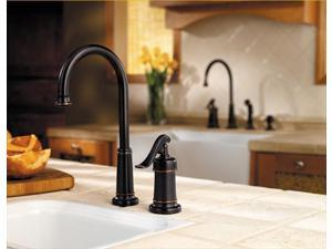 Price Pfister GT72YP2Y Ashfield Lead Free Single Handle 2 or 4-Hole Bar-Prep Faucet in Tuscan Bronze