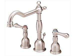 Danze I D304057BN Opulence 8 in. Widespread 2-Handle High-Arc Bathroom Faucet in Brushed Nickel