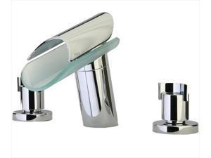 La Toscana 73CR102VR Morgana Knob 2-Handle Freestanding Roman Tub Faucet in Chrome