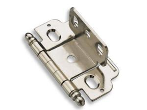 Amerock PK3180TB14 Full Inset Hinge with Partial Wrap and .75 in. Door Thickness Ball Tip - Nickel