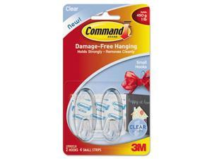 COMMAND CLEAR SMALL HOOK 17092CLR