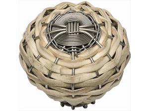 Atlas Homewares 3152-BRN Hamptons Bamboo Weaved Knob - Brushed Nickel