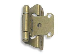 Amerock CM7566BB .25 in. Overlay Amerock Self-Closing Hinge with Partial Wrap - Burnished Brass