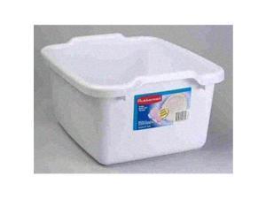 RUBBERMAID 297000  WHITE DISH PAN 15.3 QT  Case of 6