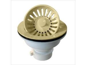 Westbrass D2143P-51 3.25 in. Push-Pull Basket Strainer in Almond