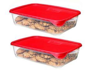 Rubbermaid 1787832 CHL Take Alongs 1 Gallon Rectangle Serving Container - 2 Pack Pack Of 3