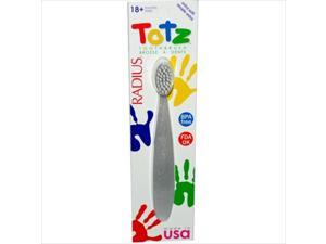 Radius Totz Toothbrush 18+ Months - Extra Soft - Clear Sparkle -Pack of 6