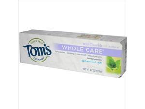 Toms Of Maine Whole Care Gel Toothpaste Spearmint - 4.7 Oz
