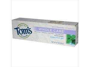 Toms Of Maine Whole Care Gel Toothpaste Peppermint - 4.7 Oz