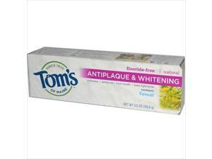 Toms Of Maine Antiplaque And Whitening Toothpaste Fennel - 5.5 Oz