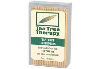 Tea Tree Therapy Toothpicks - 100 Toothpicks -
