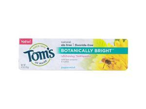 Toms Of Maine Botanically Bright Whitening Toothpaste Peppermint - 4.7 Oz