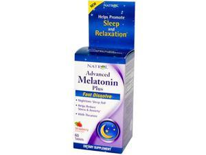 Natrol Advanced Melatonin Plus Fast Dissolve Strawberry - 60 Tablets, Pack of 1