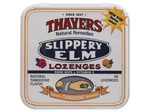 Thayers AY59716 Thayers Rose Hips Tangerine Slippery Elm Lozenges -10x42 Ct