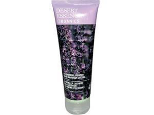 Desert Essence Organic Hand And Body Lotion Bulgarian Lavender - 8 Fl Oz -, Pack of 1