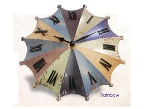 Princess International Inc. PI-1201 Umbrella Desk Clock-Rainbow