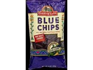 Organic Blue Corn No Salt Chips, Pack of 12