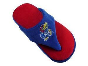 Comfy Feet CF-KAN08LG Kansas Jayhawks Comfy Flop Sandal Slippers - Large