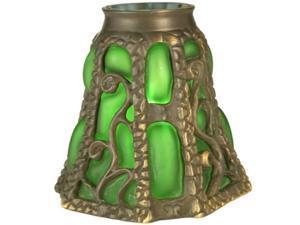Meyda 22132 Victorian Floral Art Glass Gothic - Ivy Lantern Shade