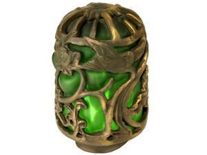 Meyda 22144 Victorian Art Glass Gothic Animals Lantern Shade - Green