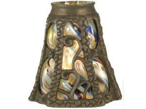 Meyda 22130 Victorian Floral Art Glass Gothic - Ivy Lantern Shade