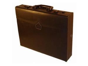 Bond Street 456030BRN 3.5 in. Professional Leather Look Attache Briefcase with Dual Combination Locks Color- Brown