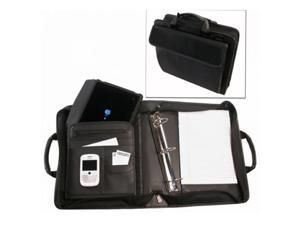Bond Street 465501BLK Ballistic Nylon Electronic Device Carrier-Business Organizer with Removable 1.5 in. Binder Portfolio