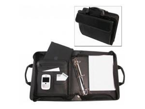 Bond Street 465500BLK Ballistic Nylon Electronic Device Carrier-Business Organizer with Removable 3 in. Binder Portfolio