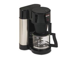 Bunn-O-Matic NHS 10-Cup Professional Home Coffee Brewer, Stainless Steel, Black